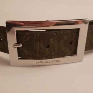 Michael Kors Nwot Logo Brown Belt